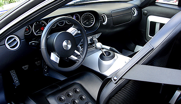 The cockpit of the GT