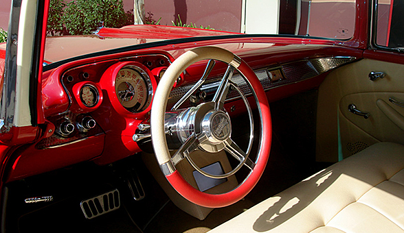Interior of the &#039;57 Nomad
