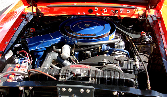 Under the hood of the Shelby GT