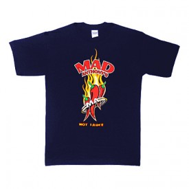 Navy Hot Sauce Logo Tee