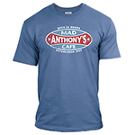 Mad Anthony&#039;s Cafe Denim Blue Tee