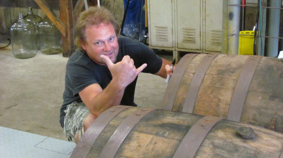 Mad Anthony's Checkin' out the Rum Barrels at Sammy Hagar's Maui Rum Distillery