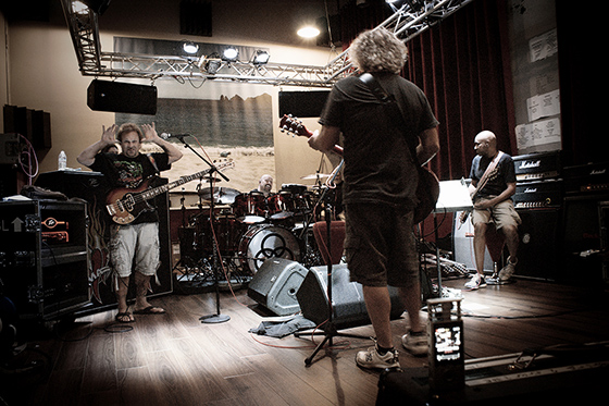 Journey Through the History of Rock rehearsals