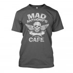 Mad Anthony's Cafe Charcoal Skull & Pepper Tee