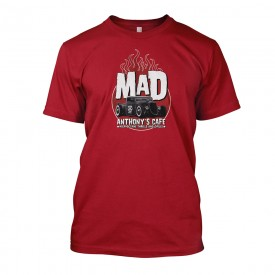 Mad Anthony's Cafe Rat Rod Tee - Now in Red!